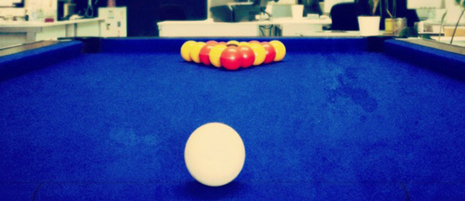 Arrival of the Pool Table