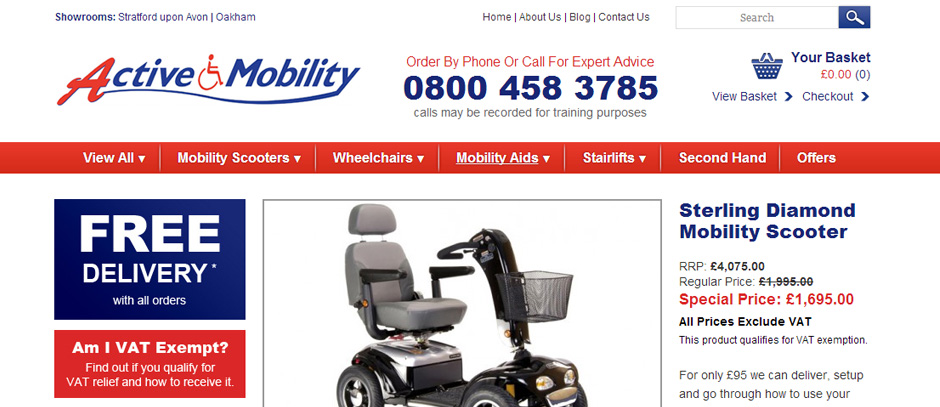 Active Mobility Ecommerce Website