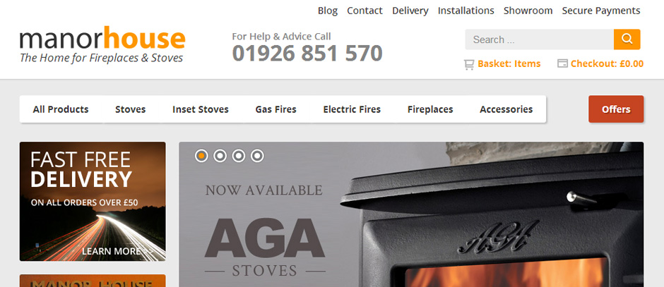 Manor House Fireplaces Launch New Ecommerce Website
