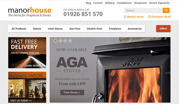Manor House Fireplaces Website