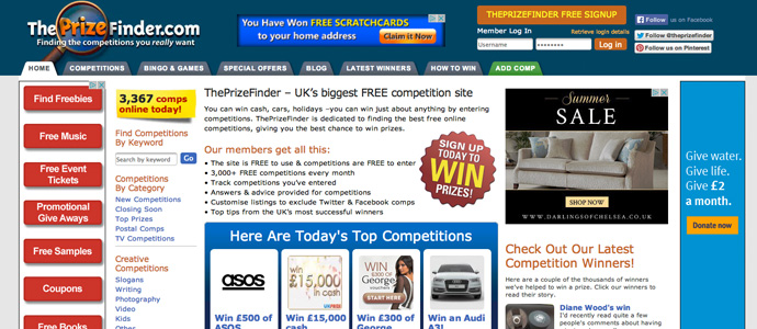 Competition Websites