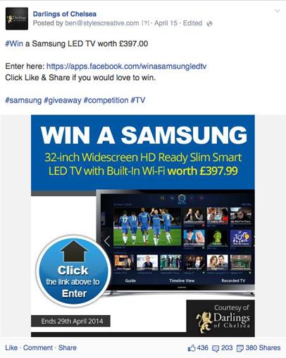 Darlings of Chelsea Facebook