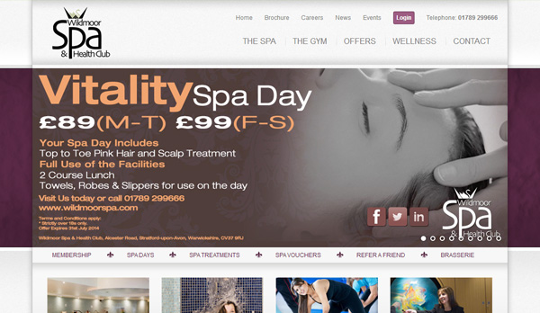 Wildmoor Spa Website